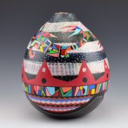 Les Namingha Hopi bird tall jar3b