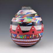Les Namingha Hopi bird tall jar3c-1